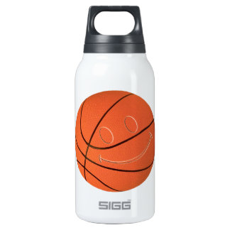 SMILEY FACE BASKETBALL INSULATED WATER BOTTLE