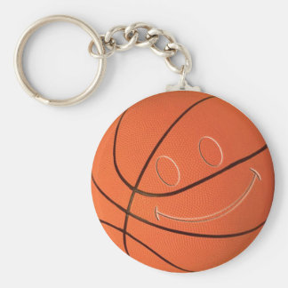 SMILEY FACE BASKETBALL KEYCHAIN