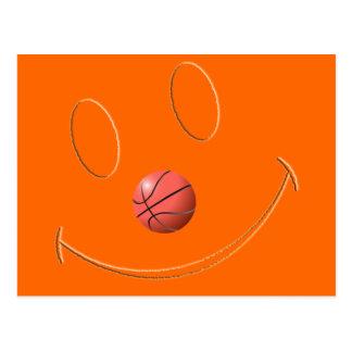 SMILEY FACE BASKETBALL POST CARD