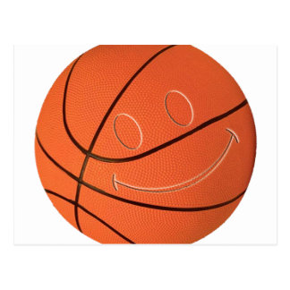 SMILEY FACE BASKETBALL POST CARDS