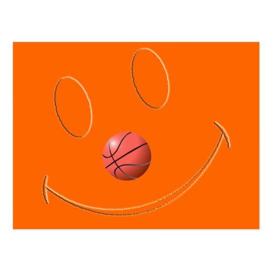 SMILEY FACE BASKETBALL POSTCARD