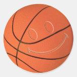 SMILEY FACE BASKETBALL STICKER