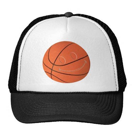 SMILEY FACE BASKETBALL TRUCKER HATS