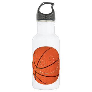 SMILEY FACE BASKETBALL WATER BOTTLE