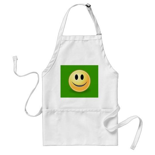 Smiley Face BBQ Apron (Green)