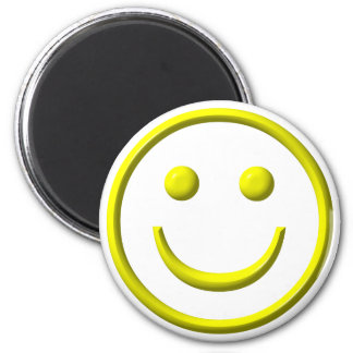 Smiley Face - Be happy! 2 Inch Round Magnet