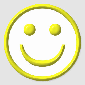 Smiley Face - Be happy! Classic Round Sticker