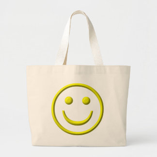 Smiley Face - Be happy! Large Tote Bag