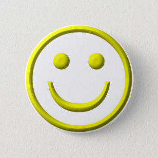 Smiley Face - Be happy! Pinback Button