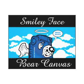 Smiley Face Bear Canvas