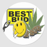 smiley face best bud collection classic round sticker