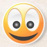 Smiley Face Beverage Coasters