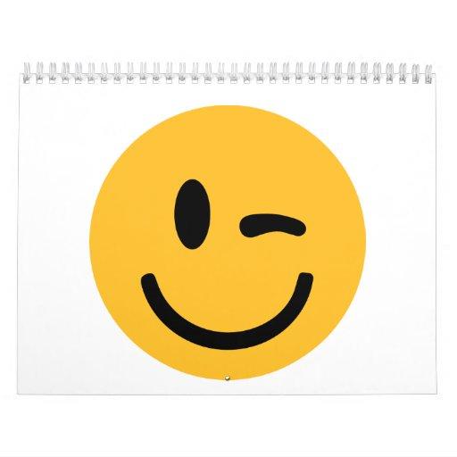 Smiley Face blink Wall Calendar