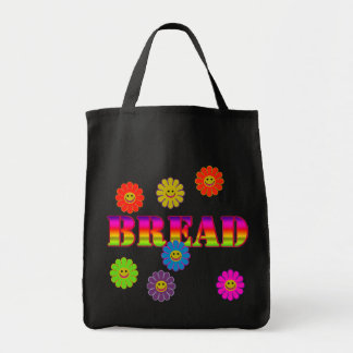 Smiley Face Bread Grocery Tote Bags