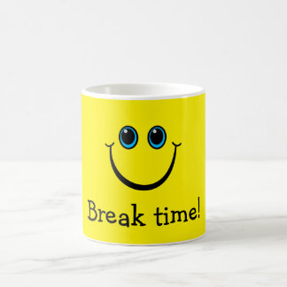 Smiley Face Break Time Coffee Mug