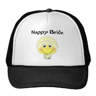 Smiley Face Bride Trucker Hat