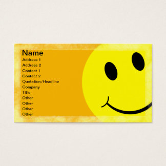 Smiley Face Business Card