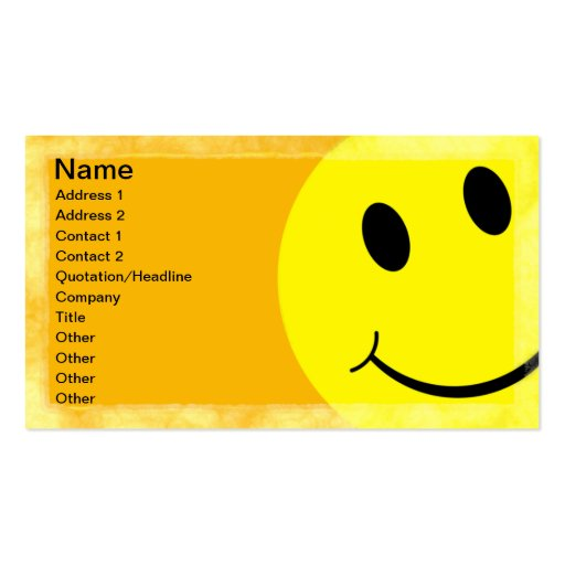 Smiley Face Business Card Template