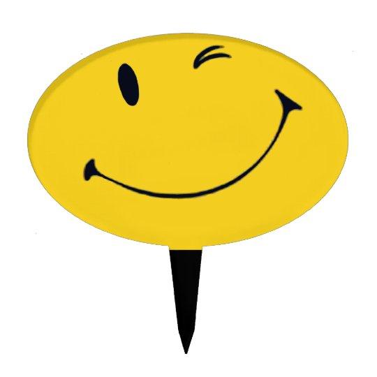 Smiley Face Cake Topper