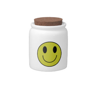 Smiley Face Candy/Cookie Jar Candy Jar