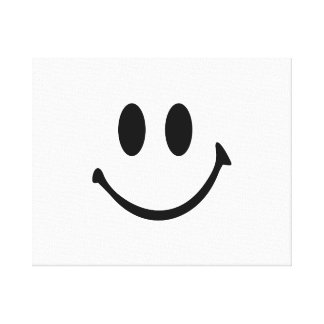 Smiley face canvas print