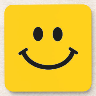 Smiley Face Coaster - Square (Customizable)