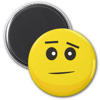Smiley Face (Confused) 2 Inch Round Magnet