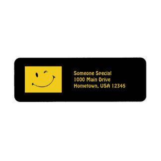 Smiley Face Custom Return Address Label