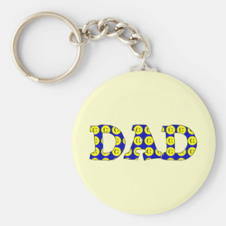 Smiley Face Dad Keychain