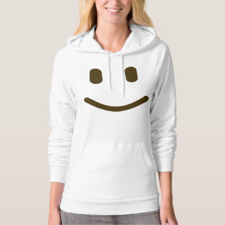 Smiley face Design White Women Hoodie