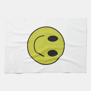 Smiley Face Dish Towel at Zazzle