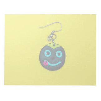 Smiley face earring notepads