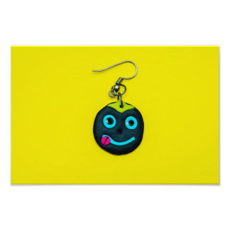 Smiley face earring photo