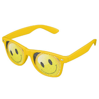 Smiley Face Emojo Party Emoticon Yellow Rave Retro Sunglasses