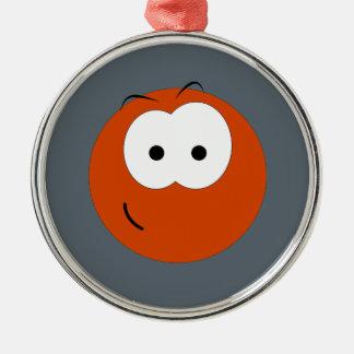 Smiley Face Emoticon Metal Ornament