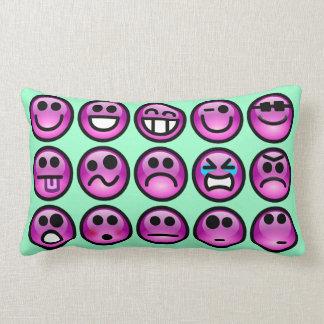 Smiley Face Emoticon Throw Pillows