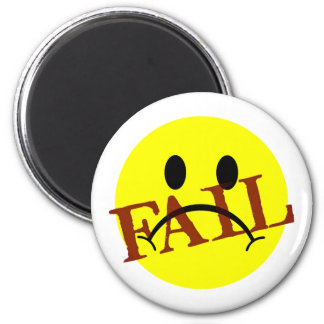 Smiley Face FAIL 2 Inch Round Magnet