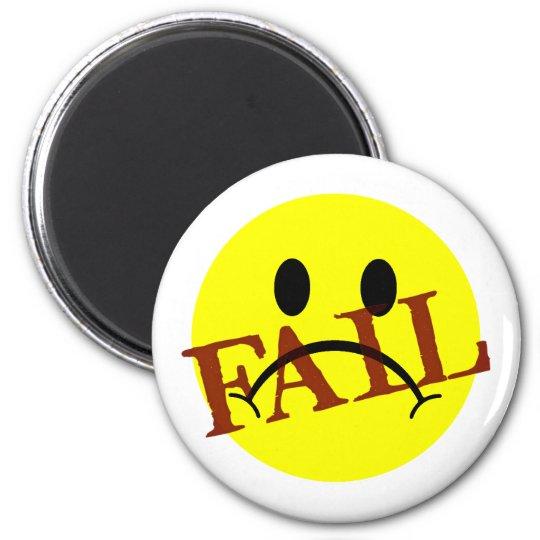 Smiley Face FAIL Magnet
