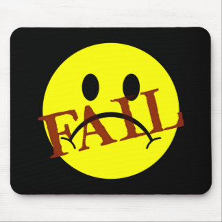 Smiley Face FAIL Mouse Pad