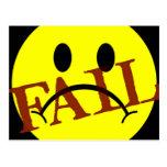 Smiley Face FAIL Post Card