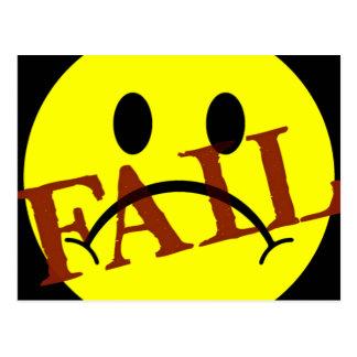 Smiley Face FAIL Postcard