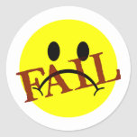 Smiley Face FAIL Round Sticker