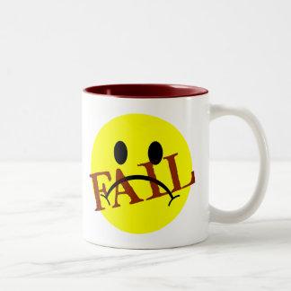 Smiley Face FAIL Two-Tone Coffee Mug
