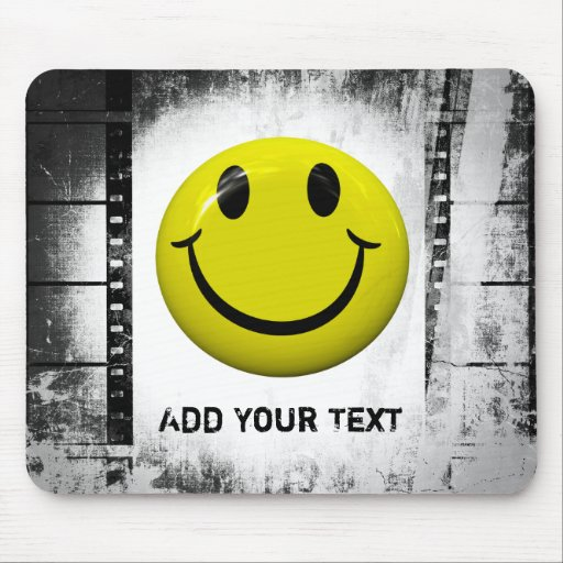 Smiley Face Film Strips Mousepad
