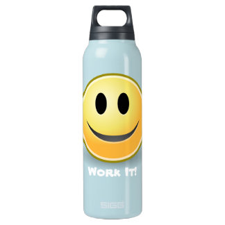Smiley Face Fitness Custom 16 Oz Insulated SIGG Thermos Water Bottle