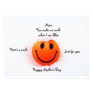 Smiley Face for Mom on Mother s Day Post Card
