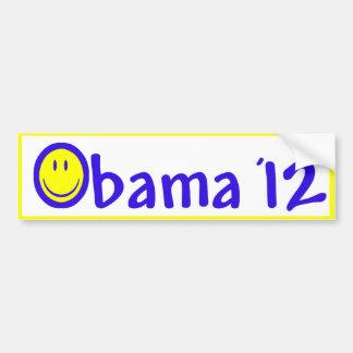 Smiley Face for Obama 2012 Bumper Sticker Car Bumper Sticker
