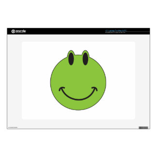 """Smiley Face Frog 15"""" Laptop Decal"""