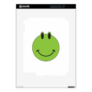 Smiley Face Frog iPad 2 Decal