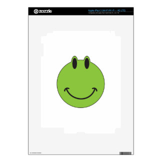 Smiley Face Frog iPad 3 Decals